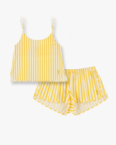Cotton cami top and pyjama shorts set