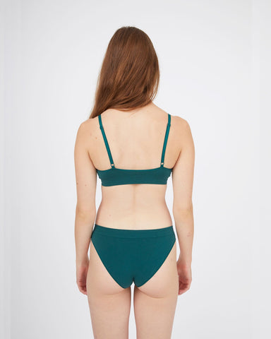 Seamfree briefs forest green