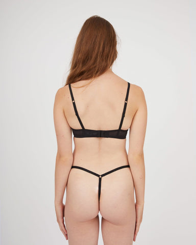 Love note mesh string black