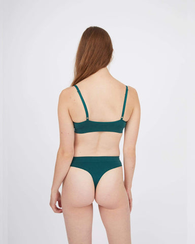seamfree thongs 3 pack forest green