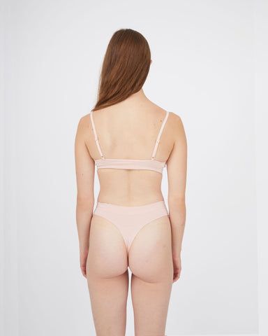 Seamfree thong peachy keen