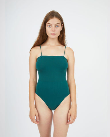 Seamfree bodysuit forest green