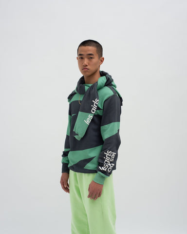Print sweatshit and loose fit track pants set