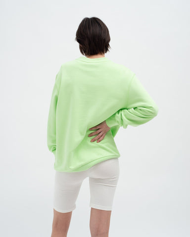 Crew neck sweatshirt paradise green