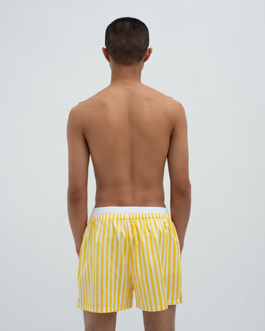 Striped woven boxers daffodil
