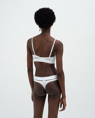 Ladder detail thong white