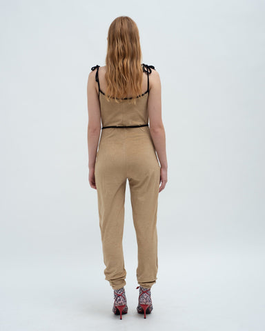 Towelling jumpsuit teddy