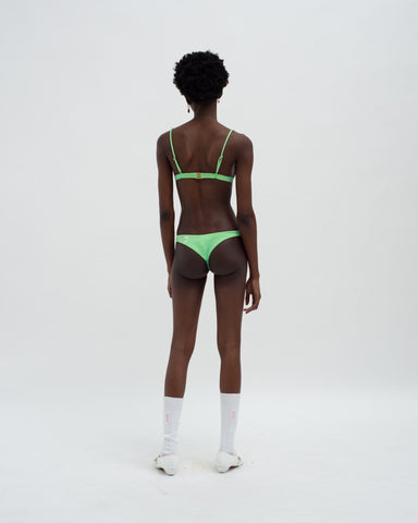 Colour change tiny bikini bottoms lime green
