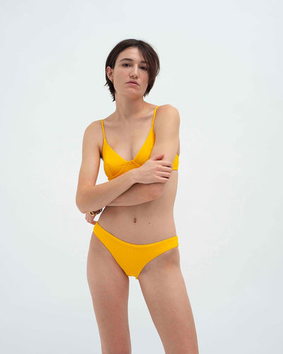 Rib underwired bikini top and mini bikini bottoms set
