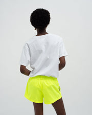 Womens neon swim shorts yellow