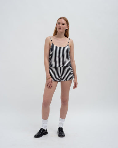 Classic cotton pyjama top and pyjama shorts set
