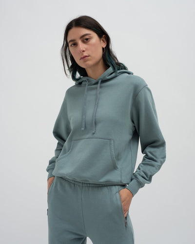 Slim shrunken hoodie and slim track pants set