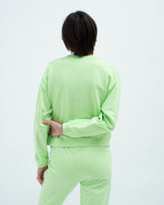 Slim shrunken sweatshirt paradise green