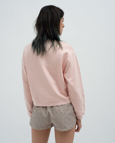 Slim shrunken sweatshirt impatient pink