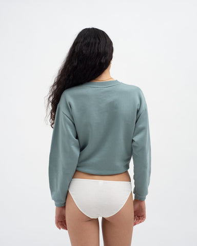 Slim shrunken sweatshirt stormy sea
