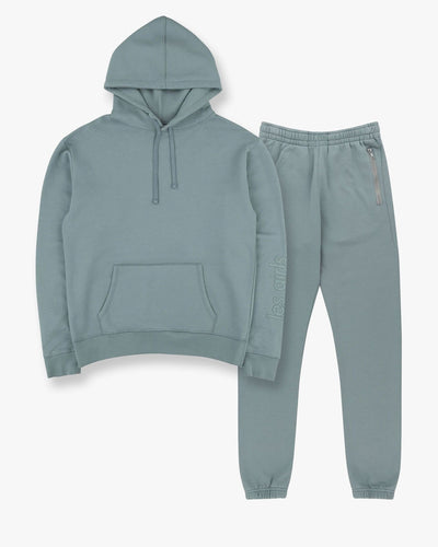 Hoodie and slim track pants set