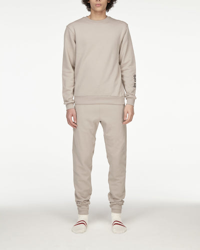 Brushback sweatshirt and loose fit track pants set