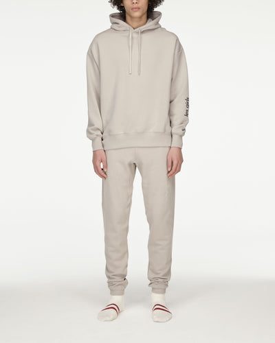 Brushback hoodie and loose fit track pants set