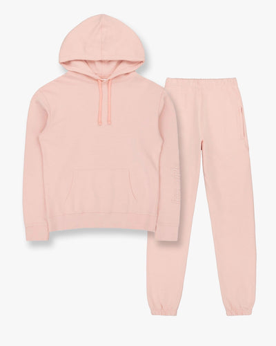 Hoodie and loose fit track pants set