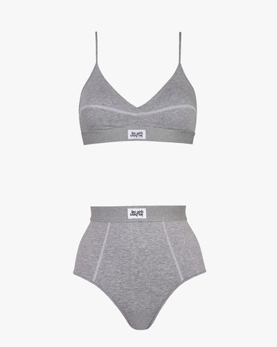 Ultimate comfort jersey bra and mid-rise briefs set