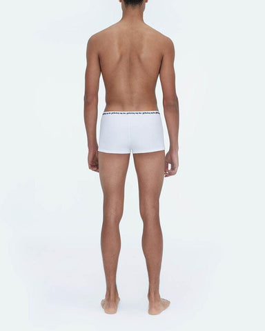 Rib jersey trunks 3 pack white
