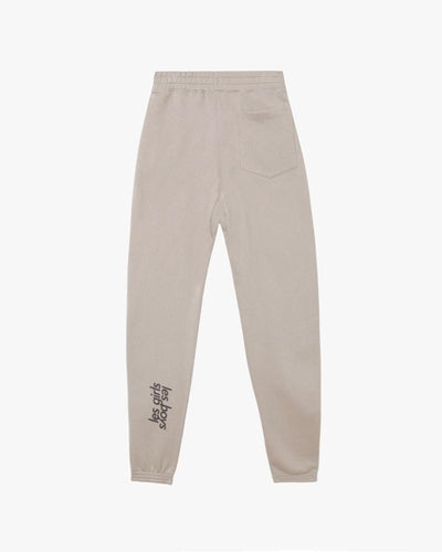 Loose fit brushback track pants stone