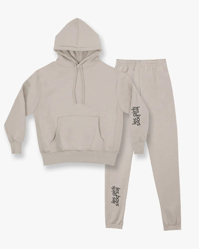 Brushback hoodie and slim track pants set