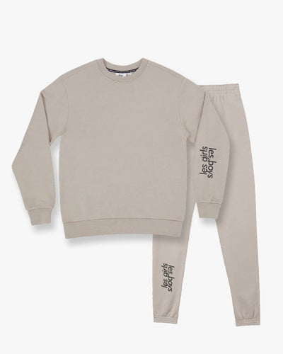 Brushback sweatshirt and slim track pants set