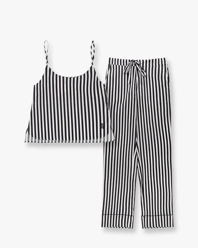 Cotton cami top and classic cotton pyjama bottoms set