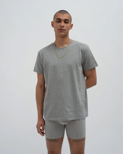 Classic crew neck t-shirt and cotton jersey long trunks set