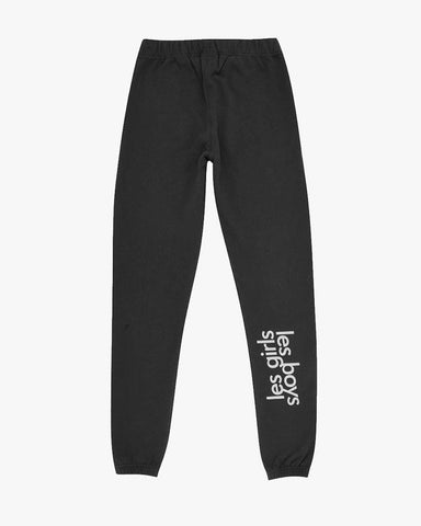 Womens big reflective logo track pants black