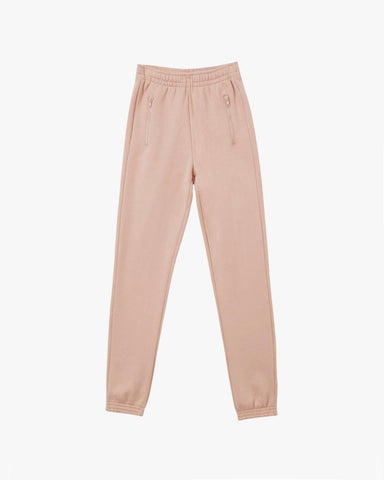 Slim brushback track pants peachy keen