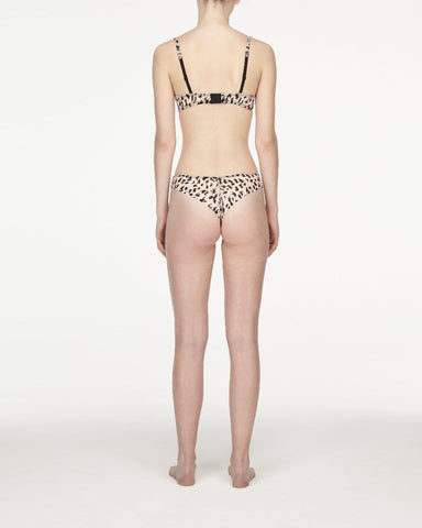 Animal print smooth thong peachy keen