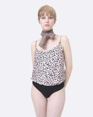 Animal print woven cami top peachy keen