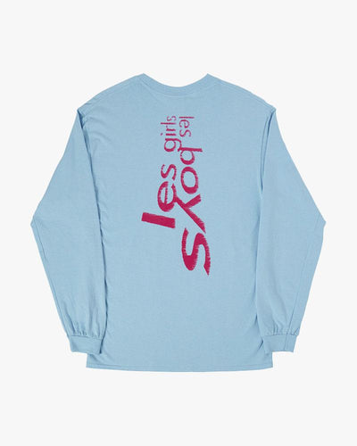 Leopard cub long sleeve t-shirt light blue