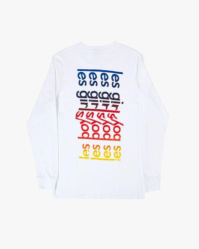 rainbow logo long sleeve t-shirt