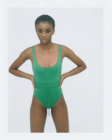 Track swimsuit green