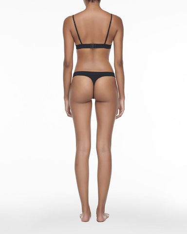 Soft touch thong black