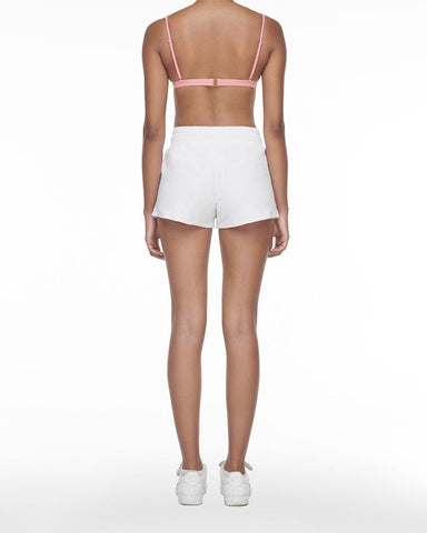 Towelling shorts white