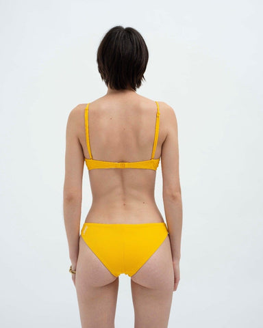 Rib mini bikini bottoms yellow