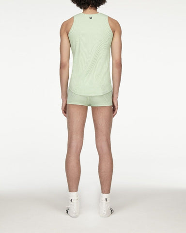 men's opening ceremony rib jersey tank top soft green