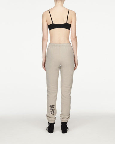 Womens brushback track pants stone