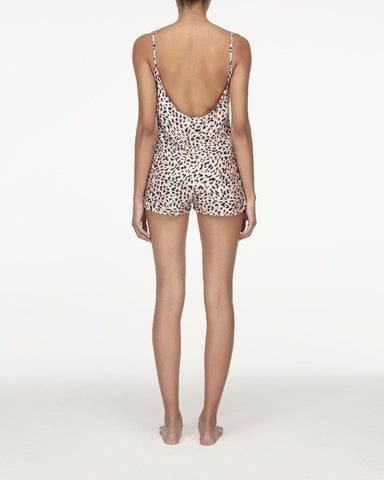Animal print woven pyjama shorts peachy keen
