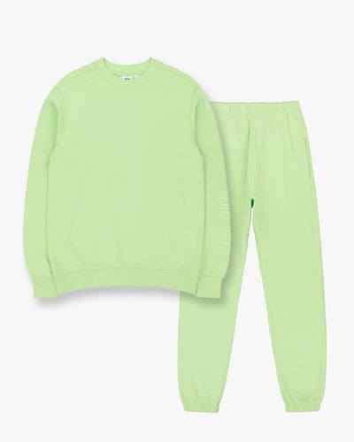 Crew neck sweatshirt and loose fit track pants set