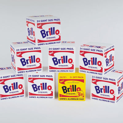 Andy Warhol Brillo Blocks wooden