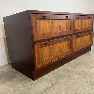 Pouc Hundevad Danish Modern Rosewood Entry or Flat Screen Storage