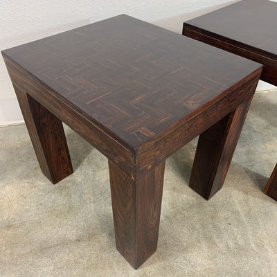 Don Shoemaker Nesting Tables Solid Rosewood Cocobolo Parquetry