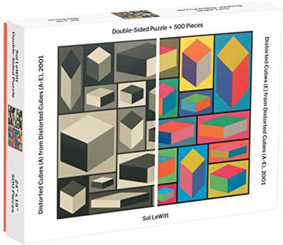 Sol LeWitt MoMa Distorted Cubes 2001 Double-Sided Puzzle 500 Piece Puzzle