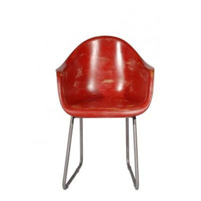 Red Timothy Oulton Regatta Bucket Chairs, Red