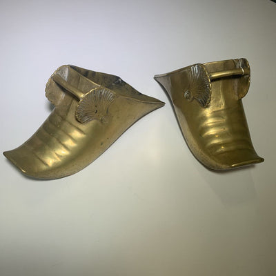 19th Century Spanish Colonial Conquistador Brass Stirrups - Pair